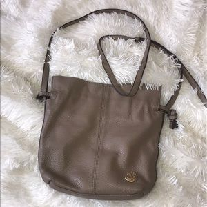 Vince Camuto Tan Genuine Leather & Suede Purse